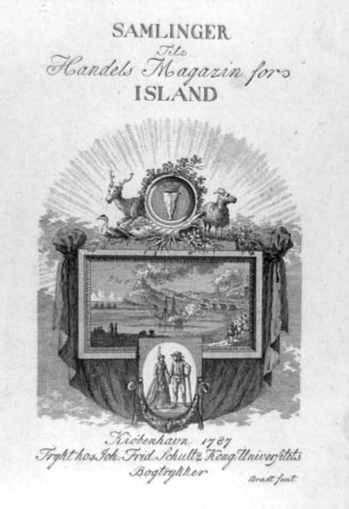 Samlinger til handelsmagazin for Island 1787 stukkket af Frederik Ludvig Bradt (1747-1829). Det Kongelige Bibliotek, Billedsamlingen.